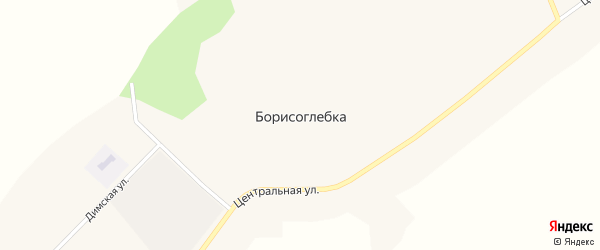 Центральная улица на карте села Борисоглебки с номерами домов