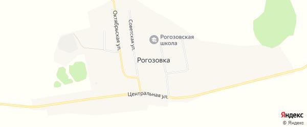 Карта села Рогозовки в Амурской области с улицами и номерами домов