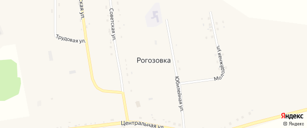 Советская улица на карте села Рогозовки с номерами домов