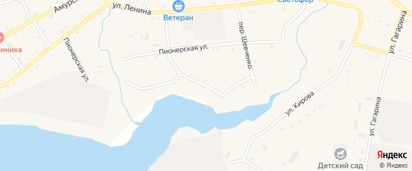 Комсомольская улица на карте села Поярково с номерами домов