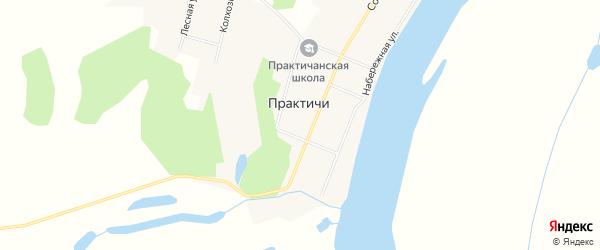 Карта села Практичи в Амурской области с улицами и номерами домов