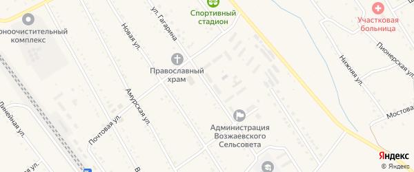 Улица Гагарина на карте села Возжаевки с номерами домов