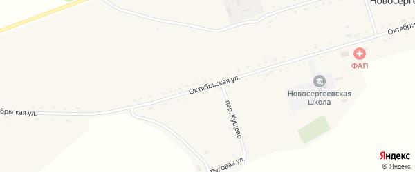 Октябрьская улица на карте села Новосергеевки с номерами домов