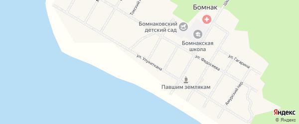 Улица Улукиткана на карте села Бомнака Амурской области с номерами домов