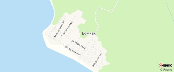 Карта села Бомнака в Амурской области с улицами и номерами домов