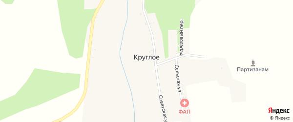 Шоссейная улица на карте Круглого села с номерами домов