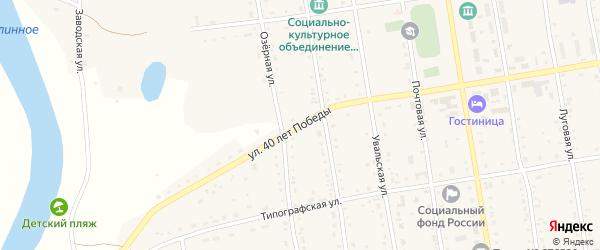 Улица 40 лет Победы на карте села Новокиевского Увала с номерами домов