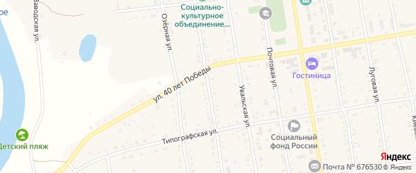 Новая улица на карте села Новокиевского Увала с номерами домов