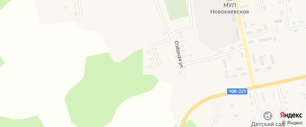 Зеленая улица на карте села Новокиевского Увала с номерами домов