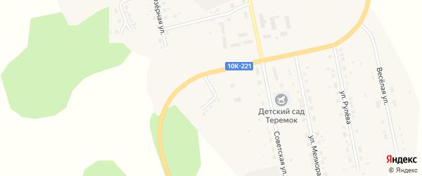 Солнечный переулок на карте села Новокиевского Увала Амурской области с номерами домов