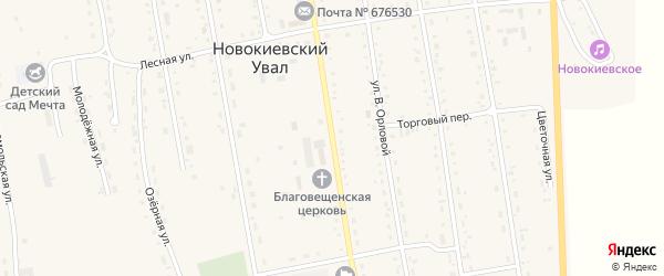 Советская улица на карте села Новокиевского Увала Амурской области с номерами домов