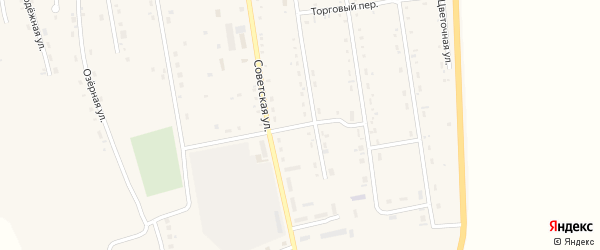 Безымянный переулок на карте села Новокиевского Увала с номерами домов