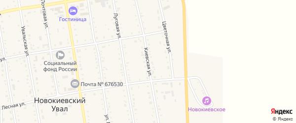 Киевская улица на карте села Новокиевского Увала Амурской области с номерами домов