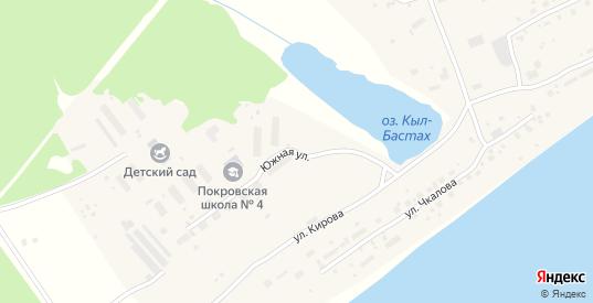 Южная улица в Покровске с номерами домов на карте. Спутник и схема онлайн