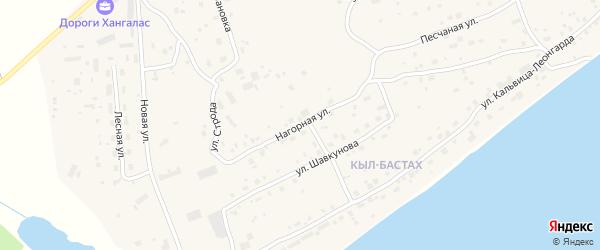 Нагорная улица на карте Покровска с номерами домов