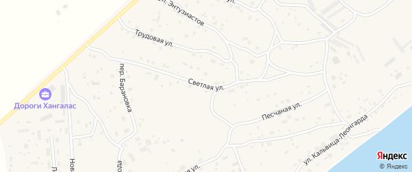 Светлая улица на карте Покровска с номерами домов