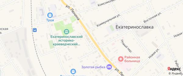 Улица Ленина на карте села Екатеринославки с номерами домов