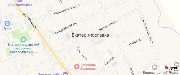 Переулок М.Горького на карте села Екатеринославки с номерами домов