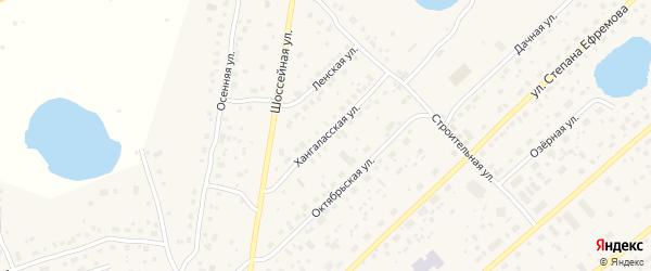 Хангаласская улица на карте Покровска с номерами домов