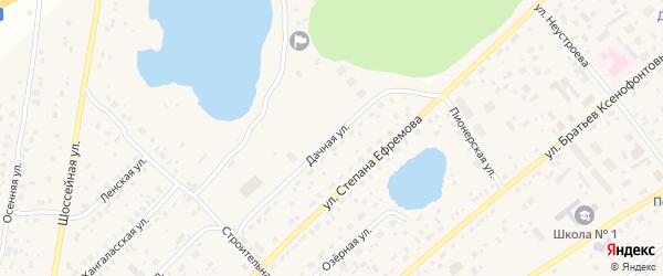 Дачная улица на карте Покровска с номерами домов