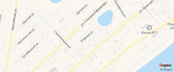 Озерная улица на карте Покровска с номерами домов