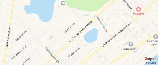 Улица Степана Ефремова на карте Покровска с номерами домов
