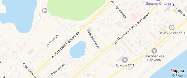 Пионерская улица на карте Покровска с номерами домов