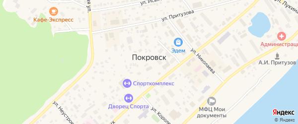Подсолнечная улица на карте Покровска с номерами домов