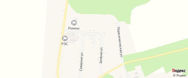 Молодежный переулок на карте села Ромен Амурской области с номерами домов