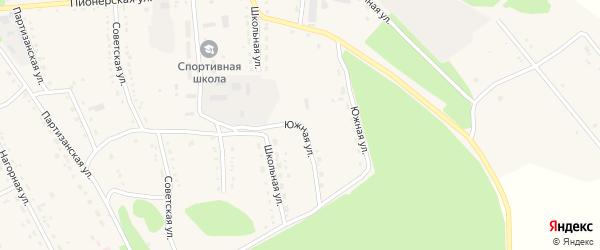 Южная улица на карте села Ромен Амурской области с номерами домов