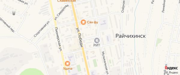 Коммунальный переулок на карте Райчихинска с номерами домов