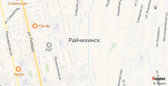 Дальневосточная улица в Райчихинске с номерами домов на карте. Спутник и схема онлайн