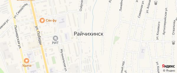 Линейный переулок на карте Райчихинска с номерами домов