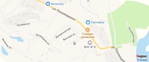 Высокий переулок на карте Райчихинска с номерами домов