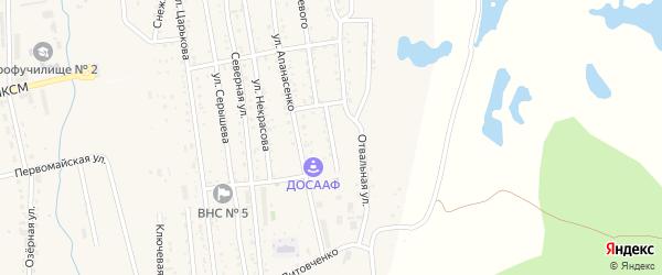 Переулок Апанасенко на карте Райчихинска с номерами домов