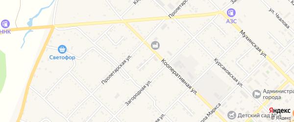 Кооперативный переулок на карте Завитинска с номерами домов