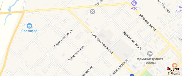 Загородная улица на карте Завитинска с номерами домов