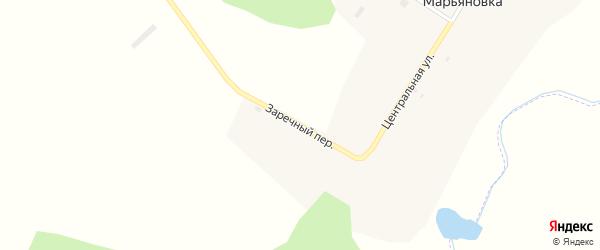 Заречный переулок на карте села Марьяновки Амурской области с номерами домов