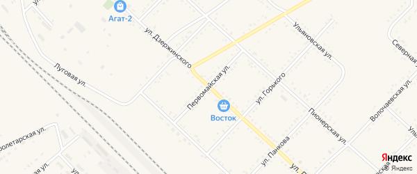 Первомайская улица на карте Завитинска с номерами домов