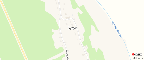 Центральная улица на карте села Булуса Якутии с номерами домов