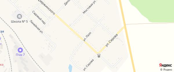 Улица Лазо на карте Завитинска с номерами домов