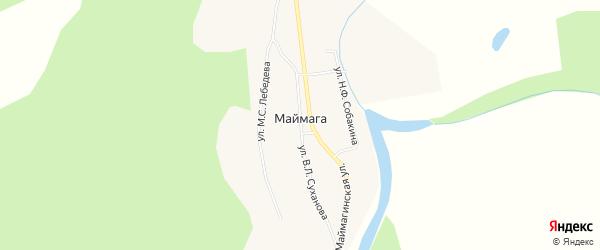 Карта села Маймаги в Якутии с улицами и номерами домов