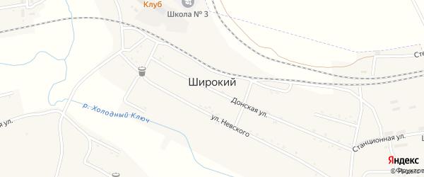 Шахтерский переулок на карте Широкого поселка с номерами домов