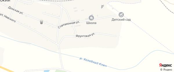 Фруктовая улица на карте Широкого поселка с номерами домов