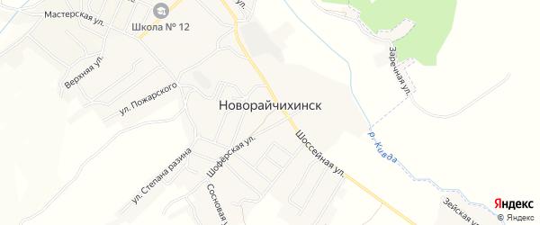 Карта поселка Новорайчихинска поселка Прогресса в Амурской области с улицами и номерами домов