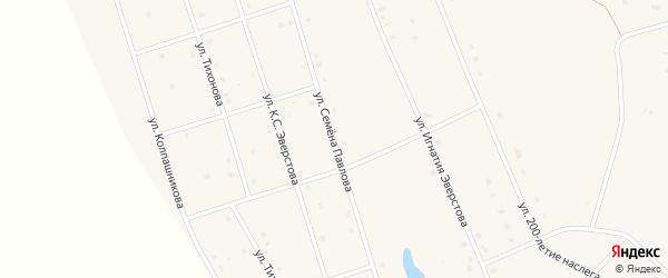Улица Семена Павлова на карте села Аппаны Якутии с номерами домов