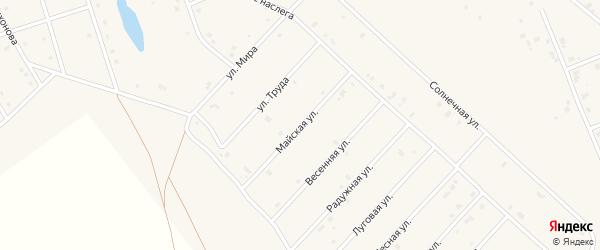 Майская улица на карте села Аппаны Якутии с номерами домов