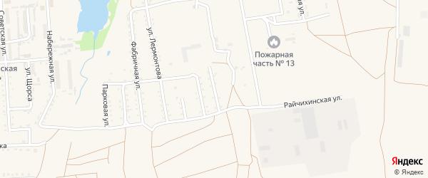 Стекольный переулок на карте поселка Прогресса с номерами домов