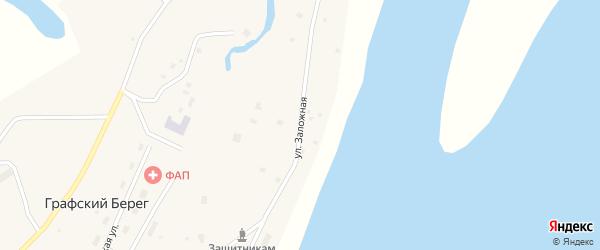 Заложная улица на карте села Графского Берега Якутии с номерами домов