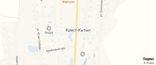 Улица И.С.Мокрощупова на карте села Крест-Кытыл Якутии с номерами домов